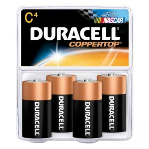 Duracell MN1400R4Z C Size Alkaline General Purpose Battery - 4 Pack