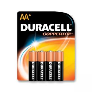 Duracell MN1500B4Z Alkaline General Purpose Battery - 4 / Pack - Size - AA
