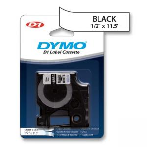 Dymo D1 16953 Fabric Tape - 1 Each - Black - White