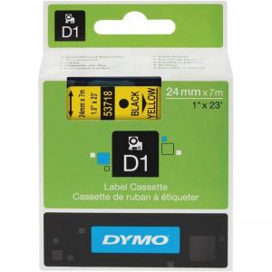 "Rubbermaid Dymo D1 Tape - 1"" Width x 23 ft Length - Yellow"