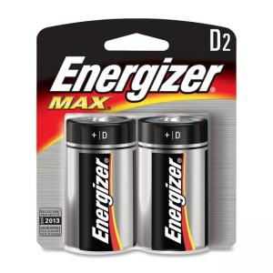Energizer D Alkaline General Purpose Battery - 2 / Pack