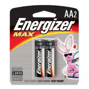 Energizer E91BP-2 AA Size Alkaline General Purpose Battery - 2 / Pack
