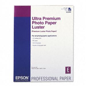 "Epson Ultra Premium Photo Paper - 17"" x 22"" - Luster - 25 Sheet"
