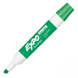 Expo Dry Erase Chisel Point Markers - Green - 12 / Dozen