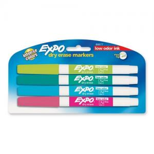Expo Dry Erase Marker - 4 / Pack - Assorted Colors