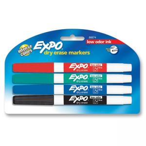 Expo Dry Erase Markers - Assorted  Colors - 4 / Pack