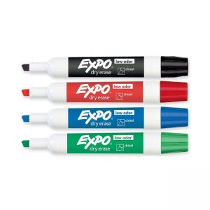 Expo Dry Erase Markers - 4 / Set - Assorted Colors