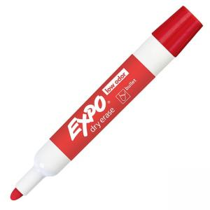 Expo Dry Erase Markers - Red Ink - 12 / Dozen