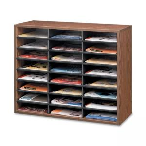 Fellowes 25043 Literature Organizer - Medium Oak - 1 Each