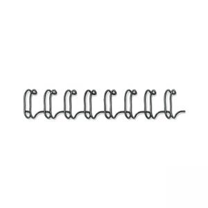 Fellowes Double-Loop Wire Binding Comb - Black - 25 / Pack