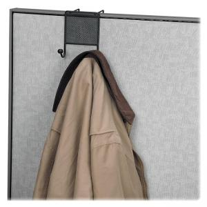 Fellowes Mesh Partition Additions Double Coat Hook - 1 Each - Black