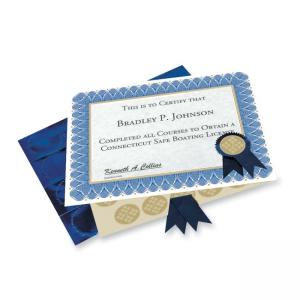 Geographics Blue Spiral Certificate Kit  25 / Pack - Blue
