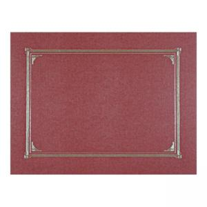 Geographics Linen Certificate Cover 6/ Pack - Burgundy