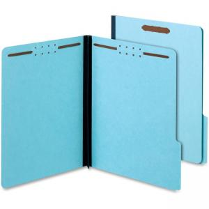 "Tops Globe-Weis Colored Fastener Folder - Letter - 8.50"" x 11"" - 1/3 Tab Cut on Assorted Position - 2"" Expansion - 25 pt. - Pres"