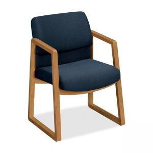 HON 2403 Guest Chair - Blue - Hardwood