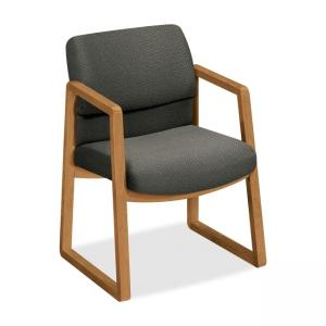 HON 2403 Guest Chair - Fabric - Gray - Hardwood