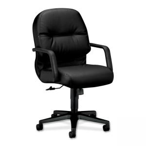 HON Pillow-Soft 2092 Managerial Mid Back Chair - Black
