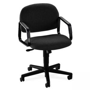 HON Solutions Seating 4002 Mid Back Chair - 1 Each - Black