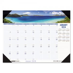 House of Doolittle Earthscapes Coastlines Desk Pad Calendar - Monthly