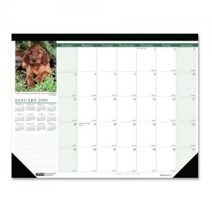 House of Doolittle Earthscapes Puppies Desk Pad Calendar - Monthly