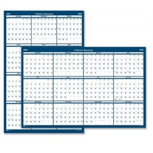 "House of Doolittle Reversible Wall Planner - 32"" x 48"""
