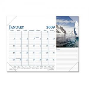 House of Doolittle Earthscapes Compact Desk Pad Calendar - Monthly