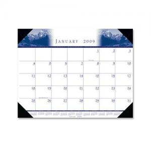 House of Doolittle One-Color Photo Desk Pad Calendar - Monthly