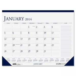 "House of Doolittle Two-Color Monthly Desk Pad Calendar (HOD164) 22"" x 17"" - 1 Year"