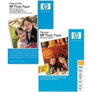 "HP Premium Plus Photo Paper - For Inkjet Print - 4"" x 6"" - 300 g/m² - Glossy - 100 / Pack"