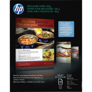 "HP Brochure and Flyer Paper - Glossy- White - Letter 8.50"" x 11"" - 150 / Box"