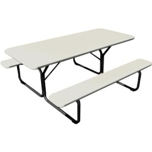 Iceberg IndestrucTable TOO 65923 Picnic Table and Bench - Platinum