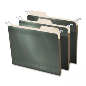 IdeaStream Findit Hanging File Folder with Innovative Top Rail - 20 / Pack - Green Cover
