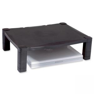 Kantek MS400 Single Level Deluxe Monitor Stand - Black