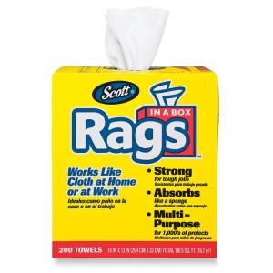 Kimberly-Clark Scott Rags In A Box - 200 / Box