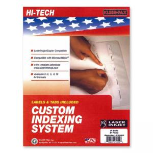 Kleer-Fax Custom Indexing System - 5 / Pack