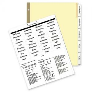 Kleer-Fax HiTech Deluxe Ring Book Index Dividers - 1 Set - Clear