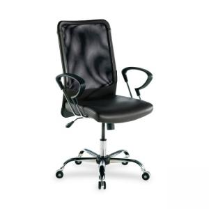 Lorell 86000 Series Executive Mesh Swivel Chair - Black - 1 Each