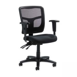 Lorell 86000 Series Managerial Mid-Back Chair - Black