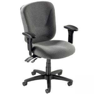 Lorell Accord 66125 Mid-Back Task Chair - Pneumatic Adjustment