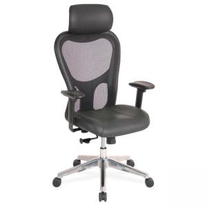 Lorell High Back Executive Chair - Black - 1 Each