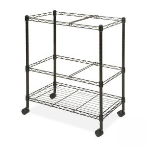 Lorell Mobile Wire File Cart