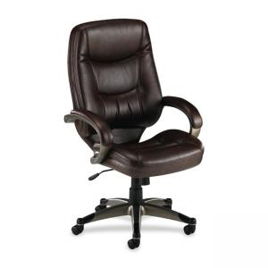Lorell Westlake Series High Back Executive Chair - Saddle - 1 Each