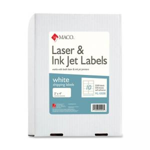 "Maco Shipping Label - 2"" Width x 4"" Length"