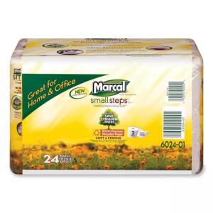 Marcal Grab N Go Bathroom Tissue - White 24 / Carton