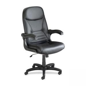 Mayline Comfort 6446AG Executive Chair - Black - 1 Each