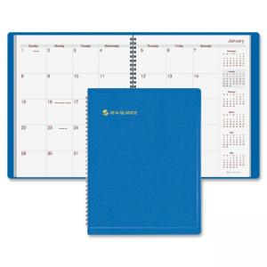 "Mead At-A-Glance Wirebound Monthly Appointment Book - Monthly - 9"" x 11"" - 1.2 Year (7025020)"