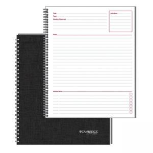 Mead Cambridge Limited Meeting Notebooks - 1 Each - 80 Sheets