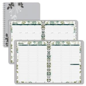 "Mead Day Runner Botanique Tabbed Weekly/Monthly Planner - Weekly, Monthly - 8.50"" x 11"" - 1 Year (759905)"