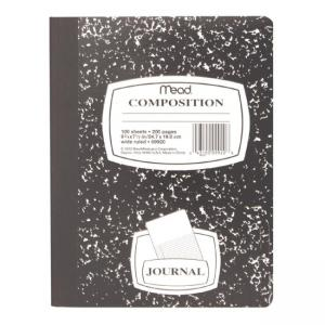 Mead Square Deal Black Marble Journal - Black Marble Cover - 100 Sheets - 1 / Each