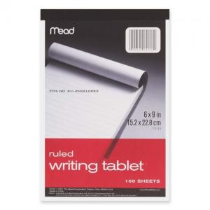 Mead Top-bound Writing Tablet - 1 Each - 100 Sheets
